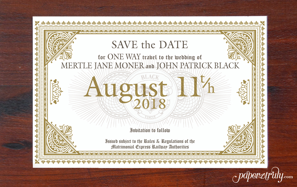 Harry Potter save the date Archives - Paper Truly