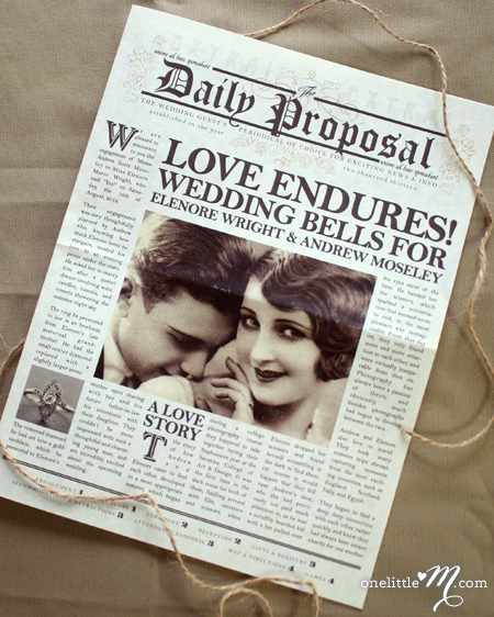 Newspaper Wedding Announcement: 1000+ Images About Engagement Newspaper On Pinterest