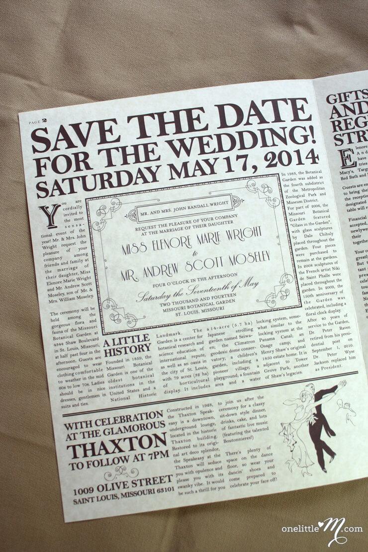 New Daily Proposal Wedding Invitation