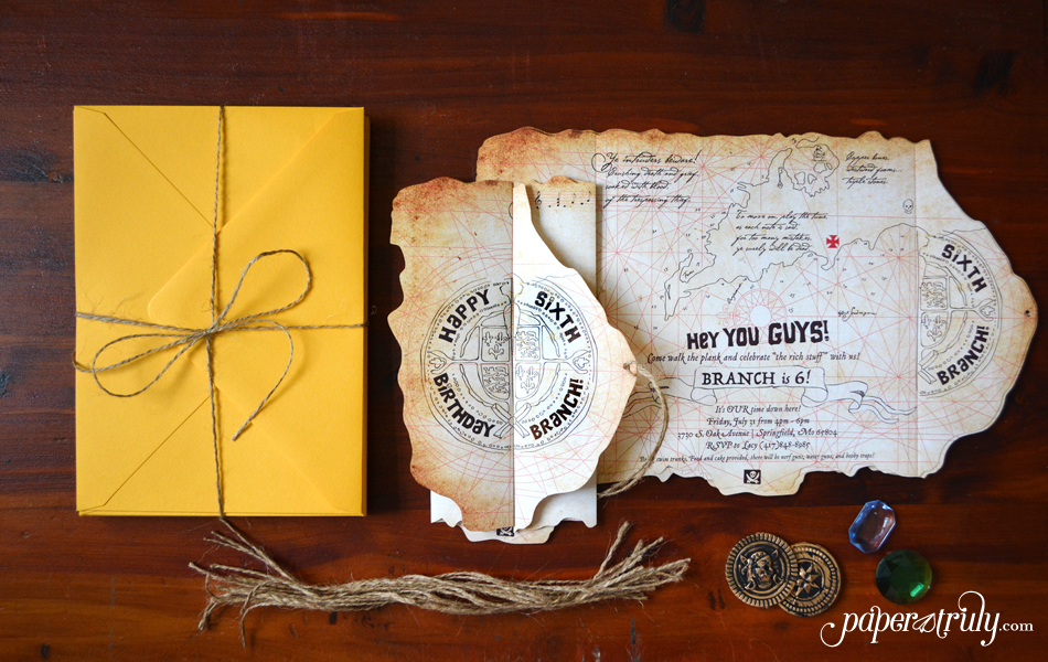 The Goonies Launch Our Party Invitations Line - Paper Truly