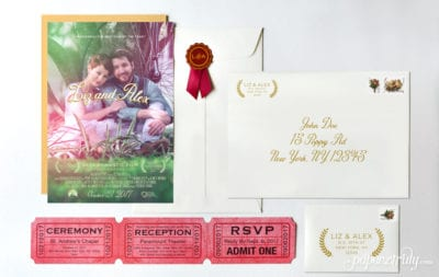 Movie Poster Wedding Invitation
